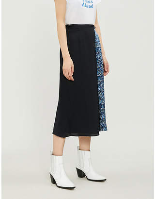 Claudie Pierlot Sweden patchwork-print georgette skirt