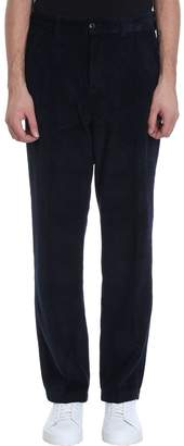 Our Legacy Navy Velour Pants