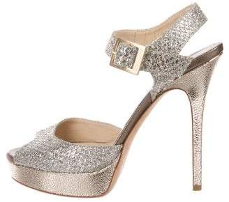 Jimmy Choo Glitter Platform Sandals