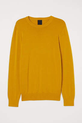 H&M Fine-knit Sweater - Yellow