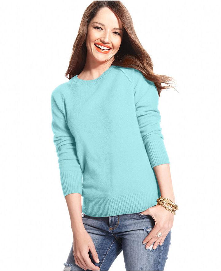 Charter Club Sweater, Long-Sleeve Cashmere Sweatshirt