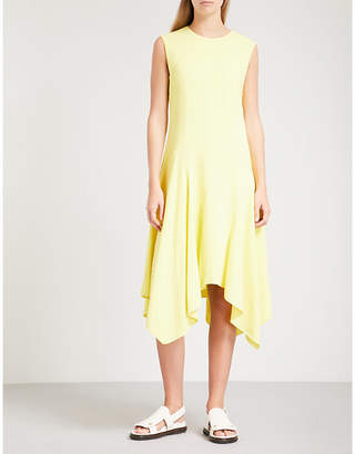 Sportmax Laser asymmetric-hem crepe dress