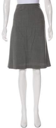Loro Piana Wool Knee-Length Skirt