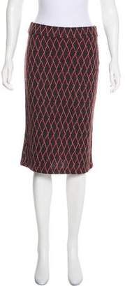 Diane von Furstenberg Patterned Knee-Length Skirt