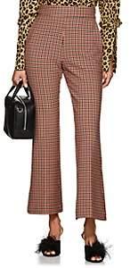 VIVETTA Women's Knaus Checked Crop Flared Trousers-Cream