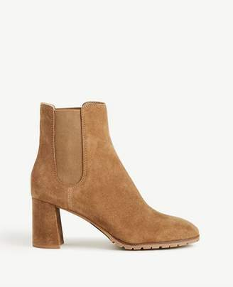 Ann Taylor Ainsley Suede Heeled Booties