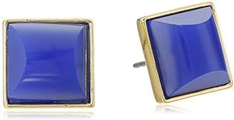 "Trina Turk Basics"" Resin Gold/Dark Blue Stud Earrings"