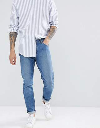 Weekday Sunday Mint Blue Tapered Jeans