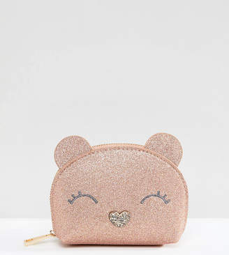 Accessorize Gracie Bear glitter coin purse