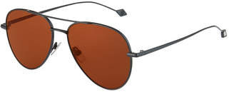 Brioni Metal Aviator Sunglasses