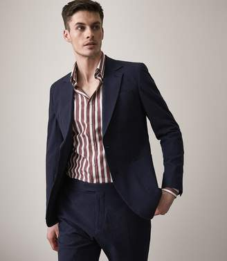 Reiss BORGO B Slim Fit Blazer Navy