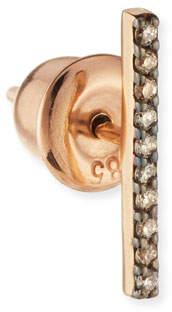 Kismet by Milka Lumiere 14K Rose Gold & Champagne Diamond Long Stick Earring