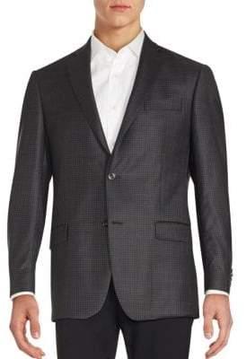 Michael Kors Plaid Wool Blazer