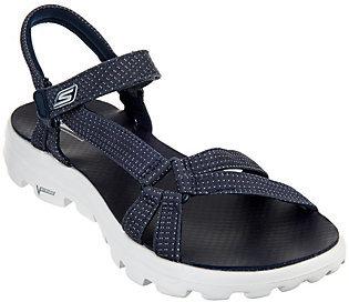 As Is Skechers GO Walk Move Strap Sandals - Riverwalk $29 thestylecure.com