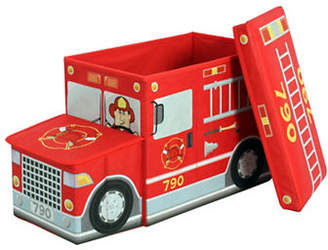GREENWAY HOME PRODUCTS Collapsible Fire Truck Storage Ottoman