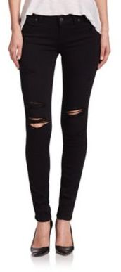 PAIGE Verdugo Transcend Distressed Ultra Skinny Jeans $199 thestylecure.com
