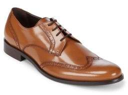a. testoni Leather Brogue Derbys