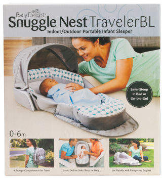 Snuggle Nest Traveler Bl Infant Sleeper