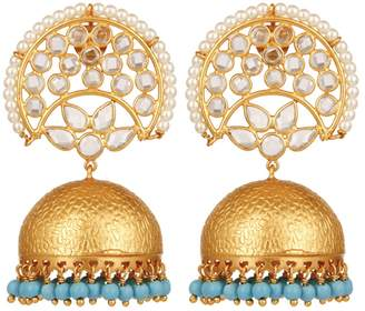 Carousel Jewels - Crystal & Turquoise Chandelier Statement Earrings