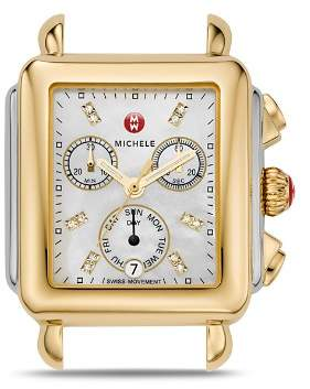 Michele Deco Day Two-Tone Diamond Dial Watch Head, 33 x 35mm