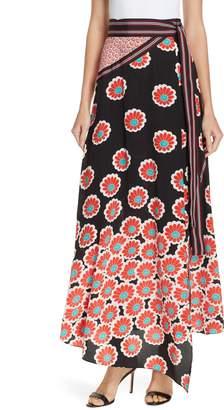 Diane von Furstenberg Taylor Wrap Maxi Skirt