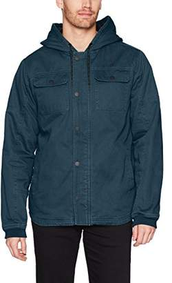 Hurley Men's Military Inspired Cotton Hooded Lined Jacket