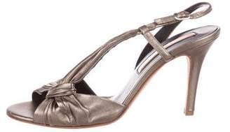 Rupert Sanderson Metallic Leather Sandals