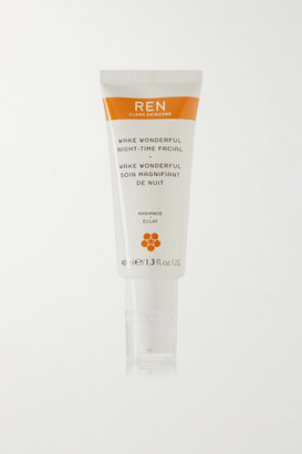 Ren Skincare Wake Wonderful Night-time Facial, 40ml - Colorless