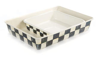 Mackenzie Childs MacKenzie-Childs Courtly Check Baking Pan, Rectangular