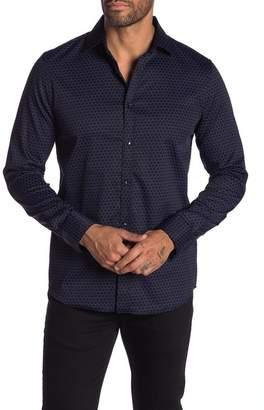 Karl Lagerfeld Patterned Long Sleeve Modern Fit Shirt