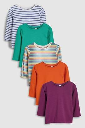 Next Girls Multi Long Sleeve Tops Five Pack (3mths-6yrs)