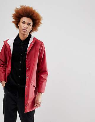 Rains 1202 Long Jacket In Red