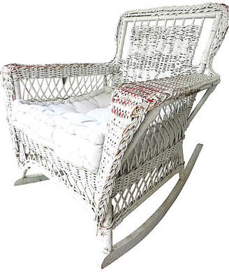 One Kings Lane Vintage 1940s French Wicker Rocking Chair