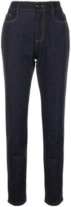 Fendi high-waist straight leg jeans