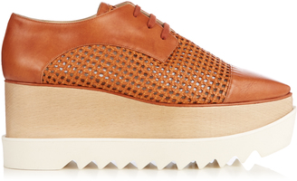 STELLA MCCARTNEY Elyse lace-up platform shoes $655 thestylecure.com