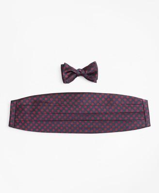 Brooks Brothers Large Polka Dot Bow Tie and Cummerbund Set