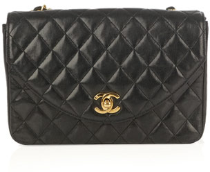 Chanel Vintage Quilted CC-clasp bag