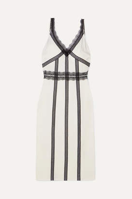 Jason Wu Lace-trimmed Crepe Midi Dress - White