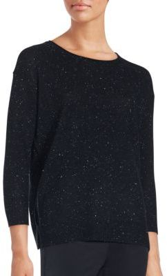 Cashmere Long Sleeve Sweater $345 thestylecure.com