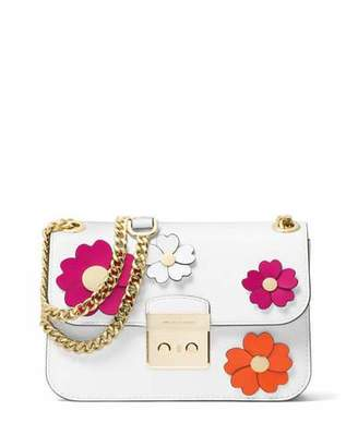 MICHAEL Michael Kors Sloan Editor Medium Floral Shoulder Bag $378 thestylecure.com