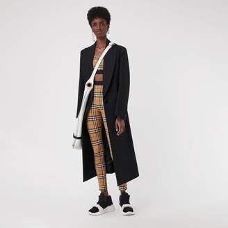 Burberry Vintage Check Leggings , Size: M, Yellow