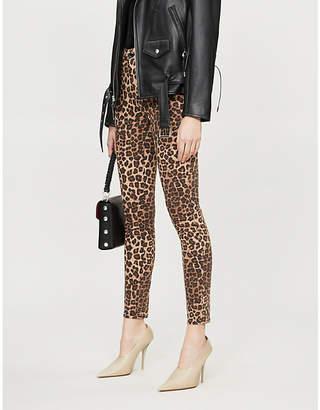 Good American Good Waist leopard-print high-rise skinny jeans