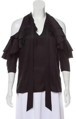 Temperley London Silk Short Sleeve Top