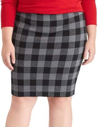 Chaps Plus Size Buffalo Check Pencil Skirt