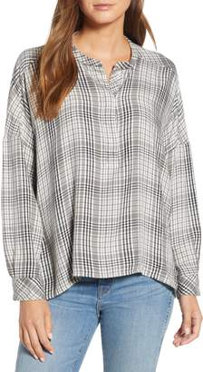 Lou & Grey Plaid Henley Shirt