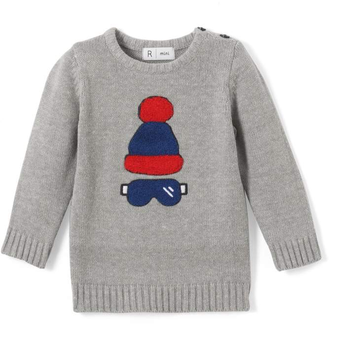 La Redoute Collections Long-Sleeved Intarsia Jumper, 1 Mth-3 Years