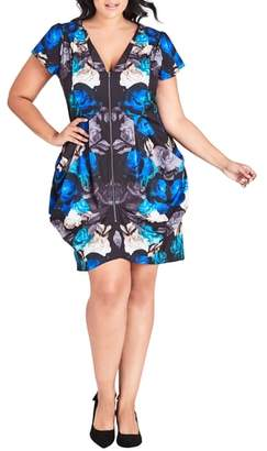 City Chic Electric Rose Tunic Dress