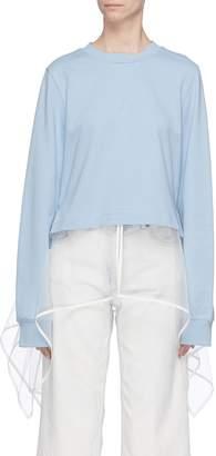 J KOO Extended mesh hem panel sweatshirt
