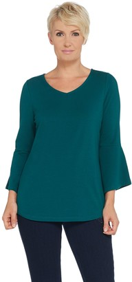 Belle By Kim Gravel Belle by Kim Gravel TripleLuxe Bell Sleeve V-Neck Top