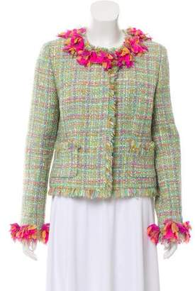 Chanel Fringe-Trimmed Tweed Jacket